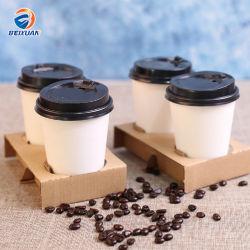 2 xícara de café de papel Kraft descartáveis para copos