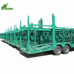 2 Piani Di Auto Idraulica Suv Auto Transport Semi-Rimorchio