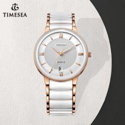 El hombre&Señoras reloj de pulsera de cerámica con cristal de zafiro (72845)