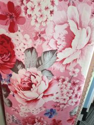 Peônia Flor Folha roupa de toque suave para 100% de tecido de poliéster