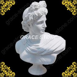 Busto de mármol tallada Apollo