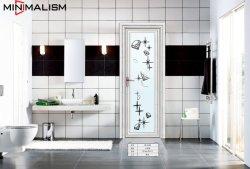 Los materiales de construcción el aluminio wc puerta/puerta del baño de aluminio con cristal templado esmerilado//cristal oscuro/Casement/Swing puertas/francés/aluminio