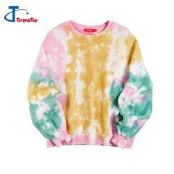 Пользовательские моды 100%хлопок французский Терри Drop плечо цветные обвязные красителя пота футболки на заказ