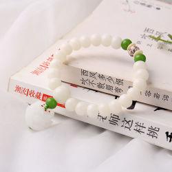 Geschenk, Buddha bördelt Armband, glückliche Halskette, weiße Jade Bodhi Wurzel-Zeichenkette, glückliche Buddha-Raupen, glückliches Armband, magisches Instrument, #102