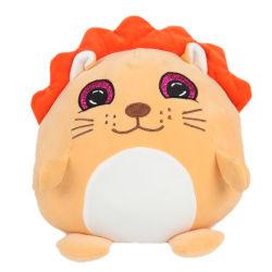 Cuscino animale molle dello scaldino della mano della peluche del leone farcito fumetto sveglio su ordinazione per i regali dei capretti