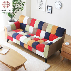 2020 nieuwe houten lijst lichte moderne woonkamer Home meubilair Salon Indoor Soft Leisure Fabric slaapbank en Lounge Couch