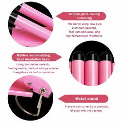 Fer à friser les cheveux professionnel de baguette magique d'onde Équilibre du dispositif de courbure de cheveux