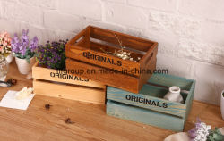 Écologique Boîte en bois peint à la main personnalisé pour l'emballage et d'Storaging