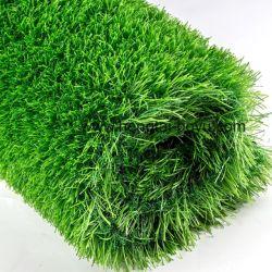 スマートな石造りの緑のフットボールのサッカー競技場のための総合的な人工的な草色の裏付けの草