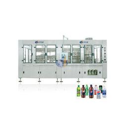 SUS 304 llenado carbonatadas Capping y planta de la máquina de etiquetado de botellas de vidrio dispositivo tapa de aluminio