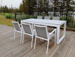 Jantar de jardim de alumínio Mobiliário de exterior para o projeto de hotel com o tipo de venda quente