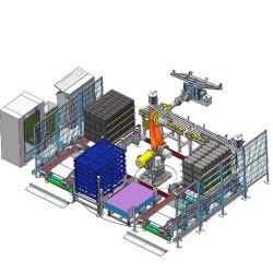Kawasaki Kuka ABB Palletizer robot FANUC pour Sac carton de la machine