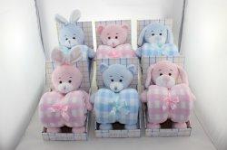 Les animaux Baby blanket set