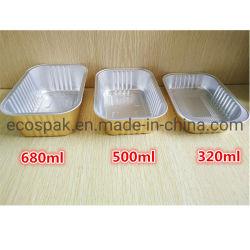 金包装ボックス高級なスズ箔の塗られた厚くされた長方形の非プリーツをつけられたアルミホイルの食事ボックス回状