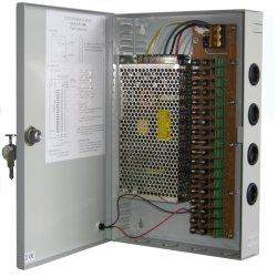 طاقة تحويل CCTV لصندوق الطاقة المعدني بقدرة 12 فولت DC12 فولت بقدرة 20 أمبير لـ PTC الإمداد