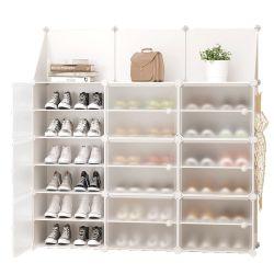 Multicouche ménage simple stockage Stockage économique DIY Assemblée Cabinet de chaussures en plastique