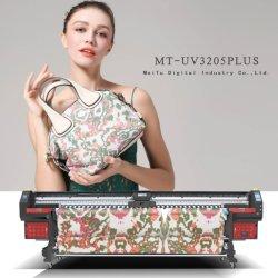 Mt de gran formato digital de 3,2 m de la impresora UV con Epson DX5 Dx7 cabezales de impresión de lienzo de cuero suave de fondo de Pantalla Film