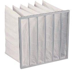 Saco de bolso de limpeza de ar do filtro de fibra sintética de Eficiência Energética