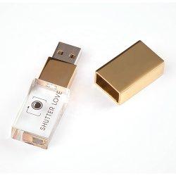 ライトが付いている最もよい価格の習慣LEDの長方形の水晶Uのディスク8GB 16GB 32GB USBのフラッシュ駆動機構