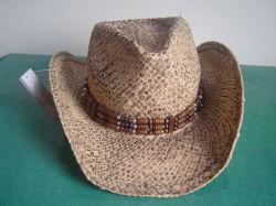 Окрашенная Raffia Ковбой соломы Red Hat (S-310)