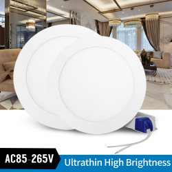Ultradunne LED-plafondlamp van 9W met ronde paneelverlichting