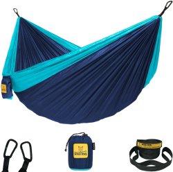 Amaca Camping con letto doppio e singolo con cintura ad albero