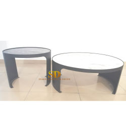 مستديرة طبيعيّ رخاميّ [كفّ تبل] جانب طاولة طاولة مركزية لأنّ يعيش غرفة زخرفة