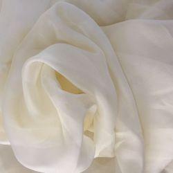 100 чистый шелк ткань шифон текстиль 5.5m/M кремового цвета слоновой кости
