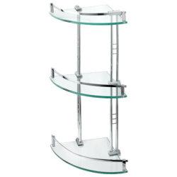 Fábrica de China Jinghu 6-10mm rectángulo forma redonda de muebles de baño Estante de cristal templado de templado de seguridad