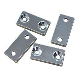 Квалифицированных промышленных Редкоземельные постоянные неодим железо Бора/NdFeB N35 Блок/сегмента никель и цинк/Zn магнит с покрытием
