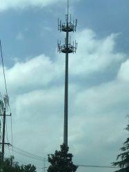 Monopole Toren van de Pijp van het Ijzer van de Transmissie van de Macht van de Structuur van het staal 10kv-1100kv de Gegalvaniseerde