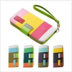 iPhone 5/5를 위한 가죽 지갑 도매 케이스