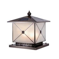 Lampada solare da recinzione lampada a LED da esterno per esterni da giardino Lampada a LED a luce solare con lampada da cima del montante