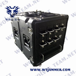 O DDS Alta Potência Veículo Multibanda Bomb 20-3600MHz sinal do telemóvel Jammer (até 2 km)