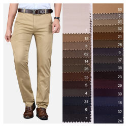 Venda por grosso de licra de algodão tecido sarjado para calças dos homens ou mulheres Pants98%algodão2% spandex/Sarjado Stretch/Chino/Perfure o algodão Elastano Tecidos