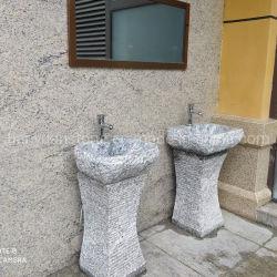 浴室のための自然な花こう岩の軸受けの洗面器