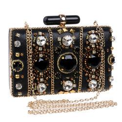 La moda de lujo bolsas de la noche de bodas de diamante Diamante CZ de Mujeres del embrague Purse por la noche de fiesta de la bolsa de embrague de boda