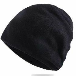 調節可能なブランクの快適なビーニーニット帽子厚肉ウールメンズ 頭蓋骨キャップ