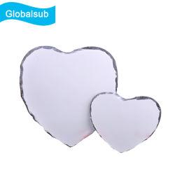 Le coeur et la forme ronde Photo Sublimation ardoise vierge