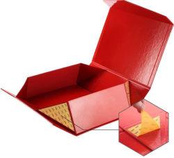 Petite boîte en carton de pliage de luxe emballage cadeau de pliage du papier d'or fille cosmétique