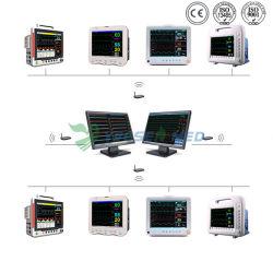 Video paziente di pressione sanguigna parametro cardiaco medico dei segni vitali dell'ospedale di multi