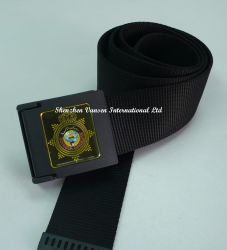 Cinghia nera di nylon della tessitura con l'inarcamento di plastica
