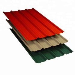 Preço competitivo de Telhado de aço corrugado de cores RAL de Folhas revestidas de cores de fábrica Superior