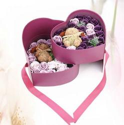 Diseño de corazón Posy Flor Embalaje Caja de regalo de bodas/Cumpleaños/día de San Valentín