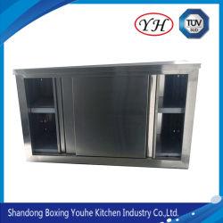 Armadietto aperto sanitario di memoria del supporto della parete dell'acciaio inossidabile per la cucina
