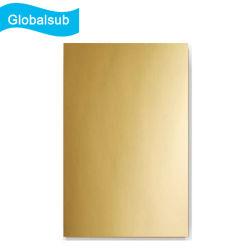 La sublimación en blanco oro brillantes hojas de aluminio para la decoración