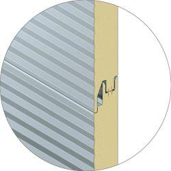 Schneller Aufbau aufbereitete EPS/PU/PIR/Rock Wollen Sanwich Panel-Materialien für Stahlkonstruktion-Gebäude