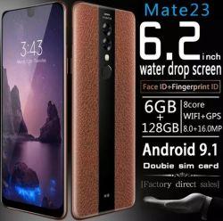 Original nouveau Smartphone 128 Go en mode plein écran 6,3 pouces de téléphone mobile