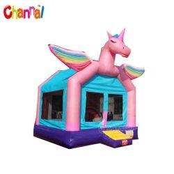 レインボーユニコーンバウンスハウス Inflatable bouncer Castle