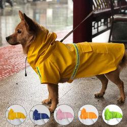 Dog Raincoat Reflexo Vestuário Pet preço de fábrica Venda por encomenda de pequenas dimensões